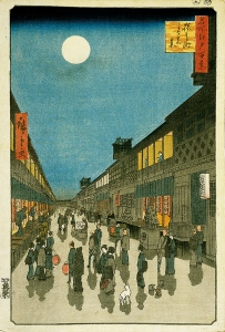 Hiroshige__Night_View_of_Saruwakacho