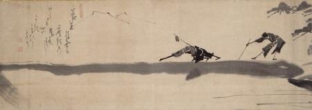 Dos ciegos cruzando un  puente_Hakuin Ekaku_1685-1768