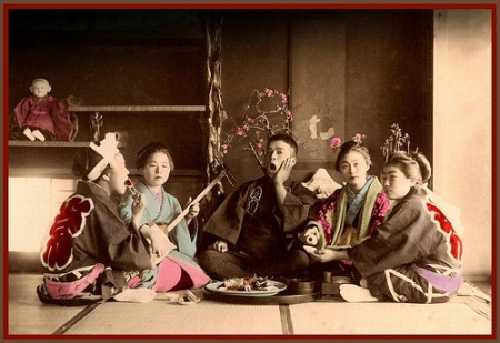 FIVE DOLLS and a MARRIED MAN in OLD JAPAN