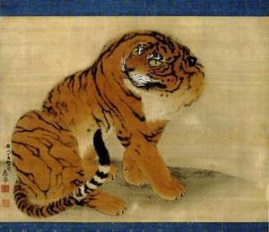 Maruyama Okyo_1733-1795__Sitting Tiger