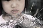 niña con nido