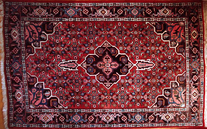 Alfombra persa en clave de haiku for Alfombra persa roja