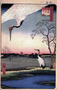 Hiroshige_Views of Edo_Cranes