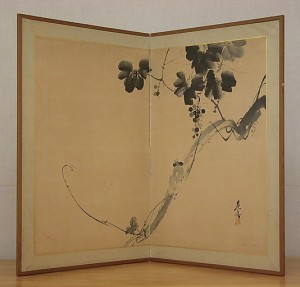 Squirrel on Grapevine_Shibata Zeshin_ 1807-1891