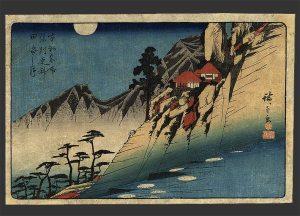 Hiroshige_La luna reflejando los arrozales en Sarashina
